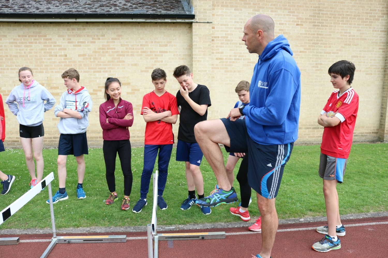 Dean Macey coaching on Academies of Sport